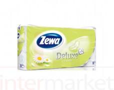 Tualetinis popierius ZEWA DELUXE  (3 sluoksnių), 8 vnt.