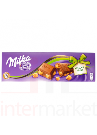 Šokoladas Milka WHOLE NUTS 250g