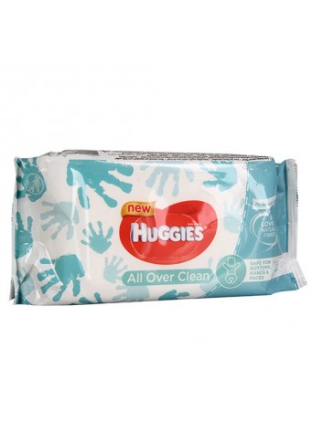 Drėgnos servetėlės Huggies All Over Clean, 56vnt
