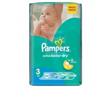 Sauskelnės Pampers active baby-dry 3 68vnt.