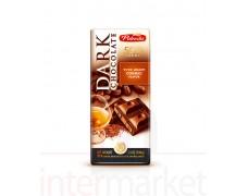 Juodasis šokoladas su konjaku, 100 g.